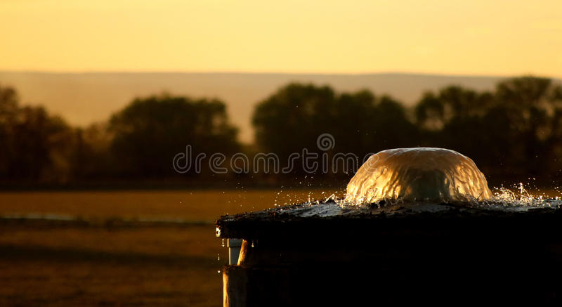 Pantalla de agua de irrigación fotografía de archivo libre de regalías