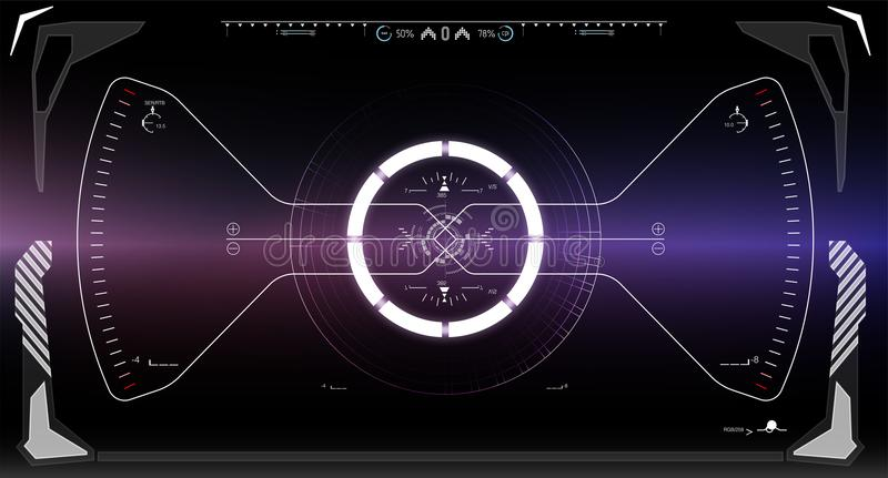 Pantalla de la tecnología de la realidad de Vitrual Ciencia ficción HUD Dashboard Display futurista libre illustration