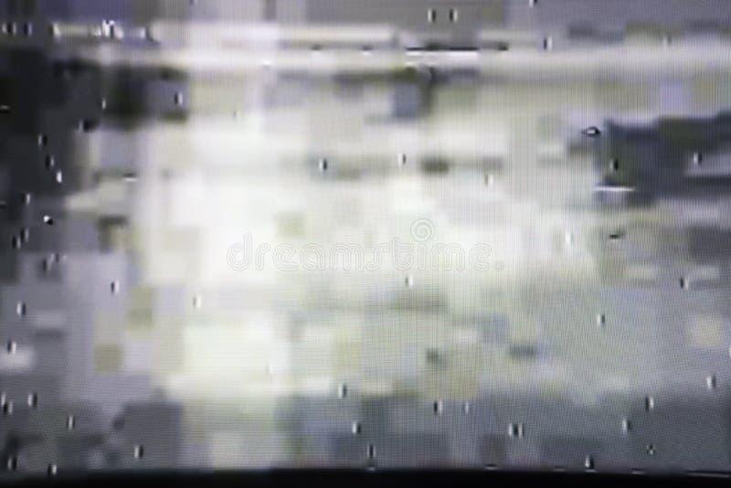 Pantalla de la TV con el ruido estático, mala señal fotos de archivo libres de regalías