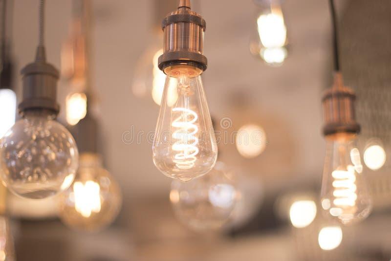 Pantalla de luces LED en la tienda foto de archivo libre de regalías
