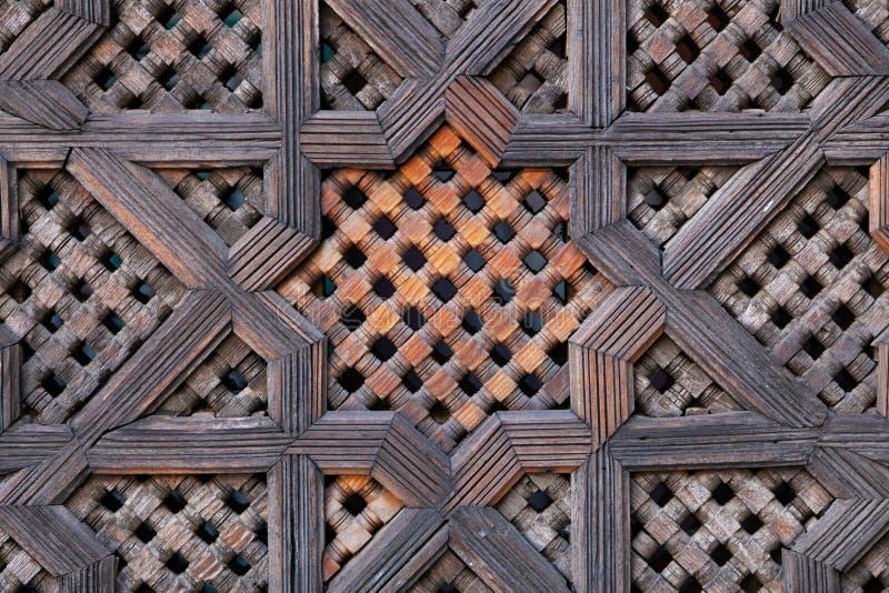 Pantalla de madera tallada en Marruecos imágenes de archivo libres de regalías