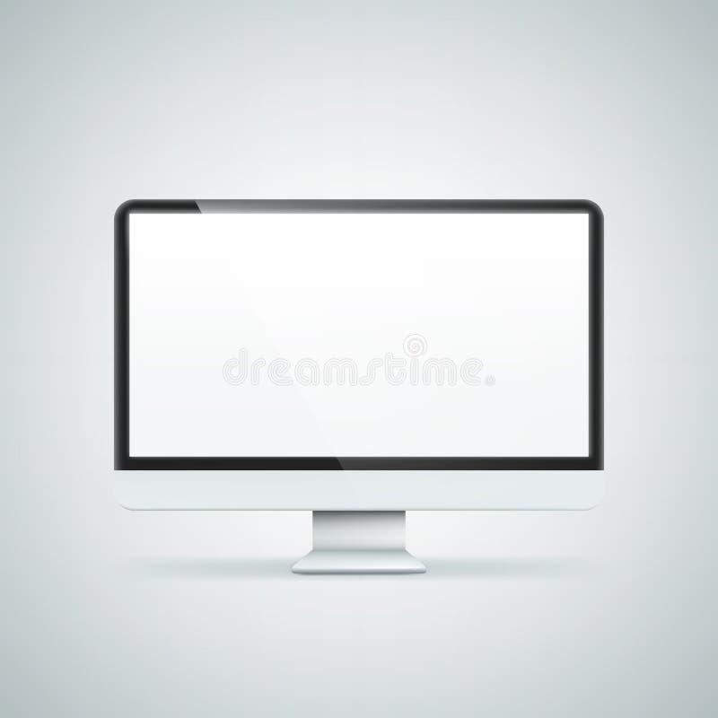 Pantalla de ordenador Ejemplo aislado en fondo libre illustration