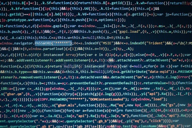 Pantalla de ordenador que exhibe código de programa imagenes de archivo