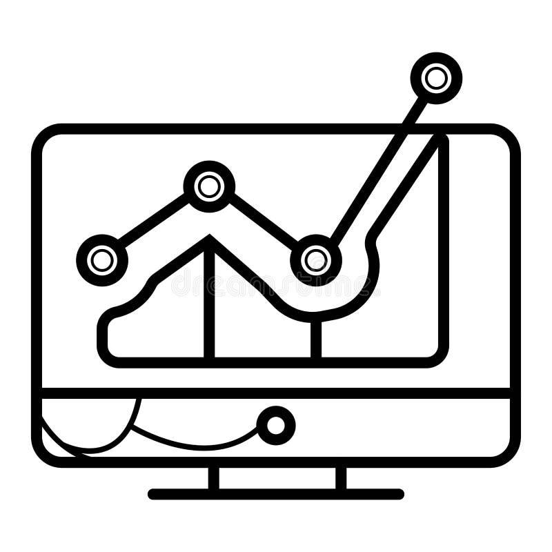 Pantalla de proyector con el gráfico ilustración del vector