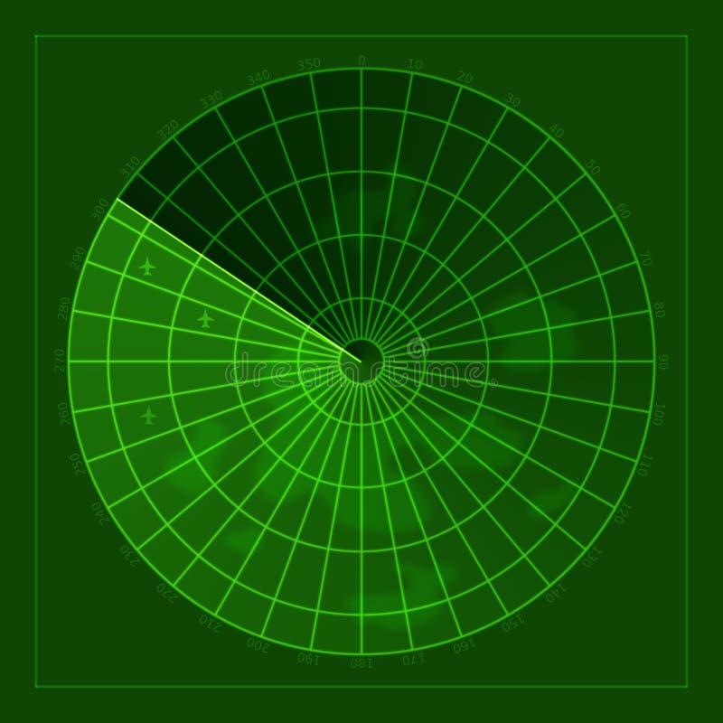 Pantalla de radar libre illustration
