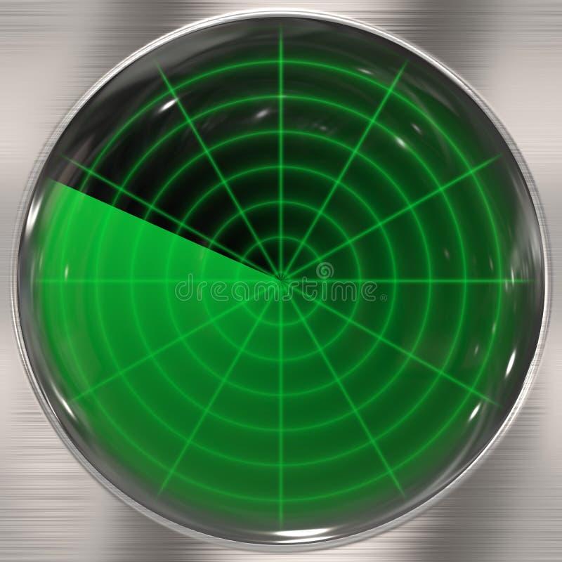 Pantalla de radar clara ilustración del vector