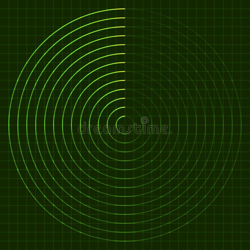 Pantalla de radar EPS10 ilustración del vector