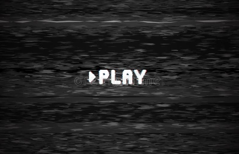Pantalla de vídeo del juego Glith del ruido de la TV, defecto glitched de la televisión y ejemplo retro del fondo del vector de libre illustration