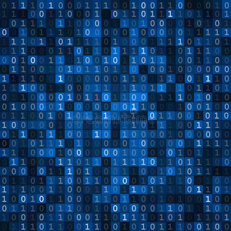Pantalla del código binario de la pantalla azul libre illustration