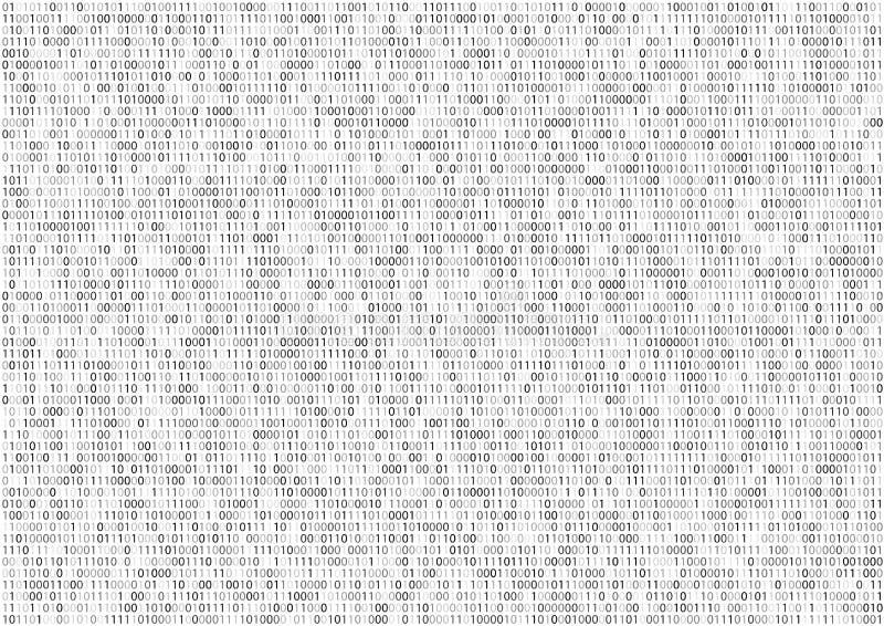 Pantalla del código binario imágenes de archivo libres de regalías