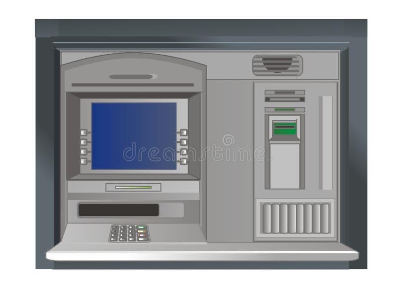 Pantalla del cajero automático stock de ilustración