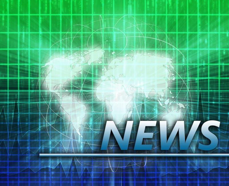 Pantalla del chapoteo de las noticias de mundo ilustración del vector
