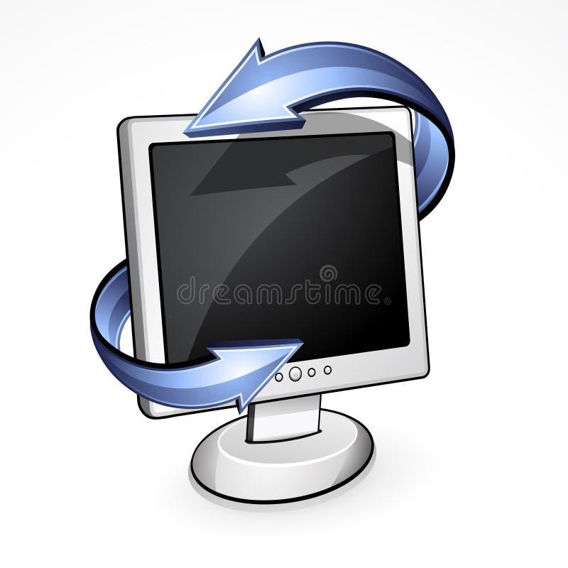 Pantalla del LCD con las flechas stock de ilustración
