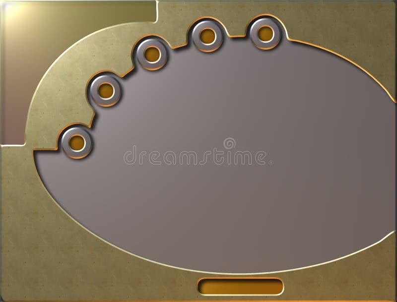 Pantalla del oro ilustración del vector