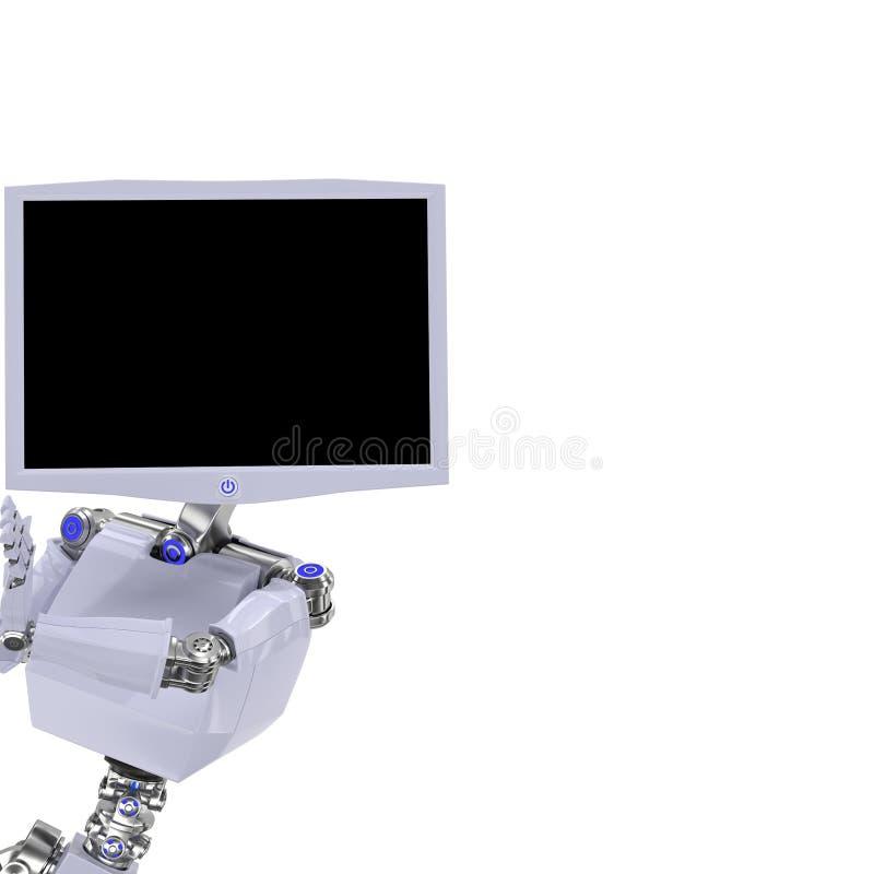 Pantalla del robot stock de ilustración