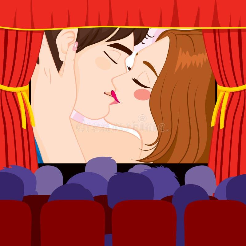 Pantalla del teatro del cine ilustración del vector