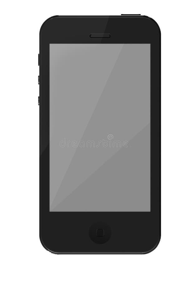 Pantalla elegante y contorno de la vista delantera del teléfono stock de ilustración
