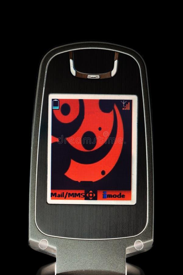 Pantalla estilizada del teléfono móvil fotografía de archivo