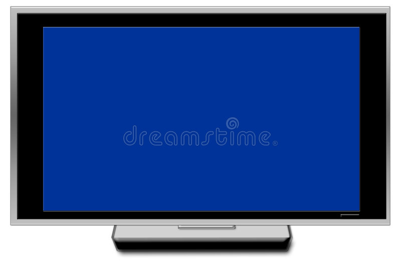 Pantalla grande de la TV foto de archivo libre de regalías