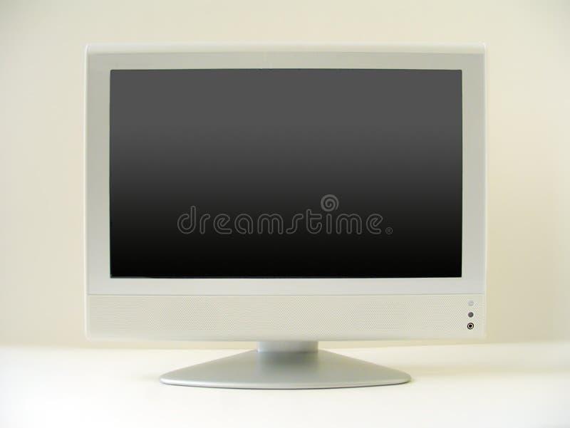 Pantalla plana de la TV foto de archivo