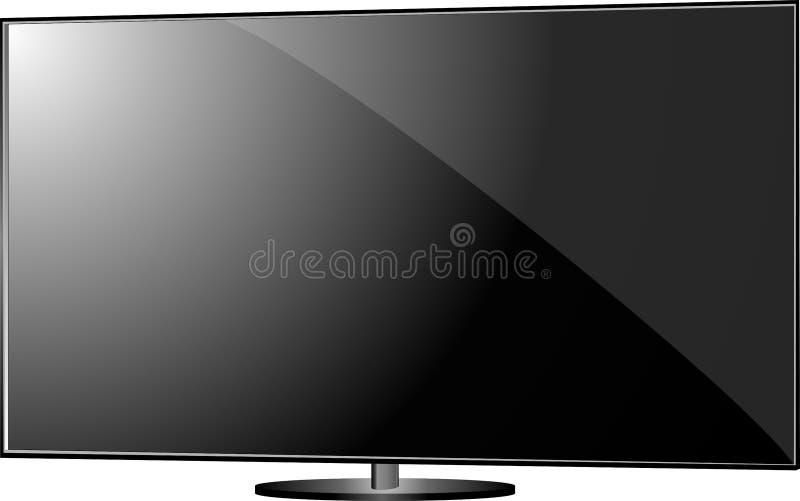 Pantalla plana de la TV ilustración del vector