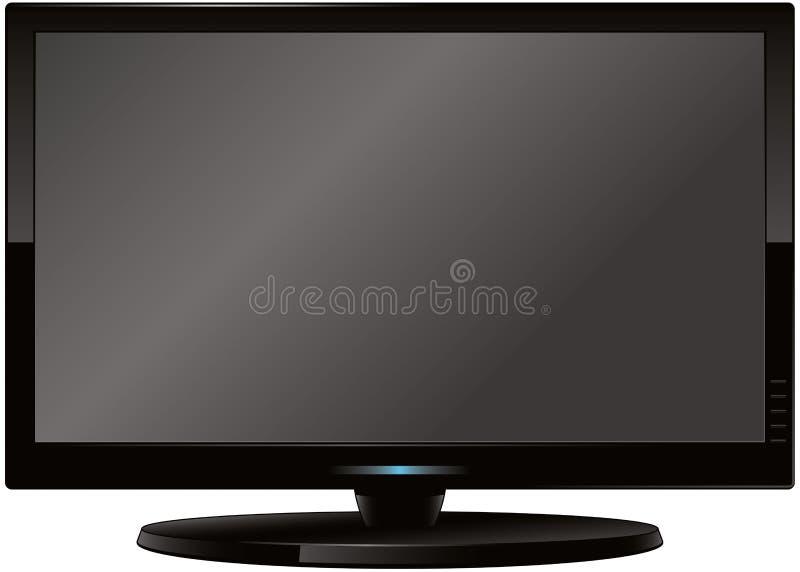 Pantalla plana moderna TV stock de ilustración