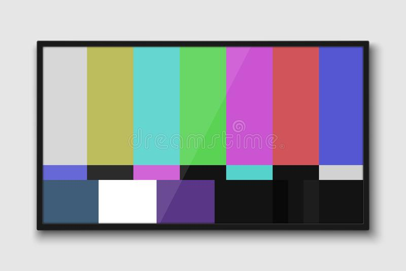 Pantalla realista de la TV libre illustration