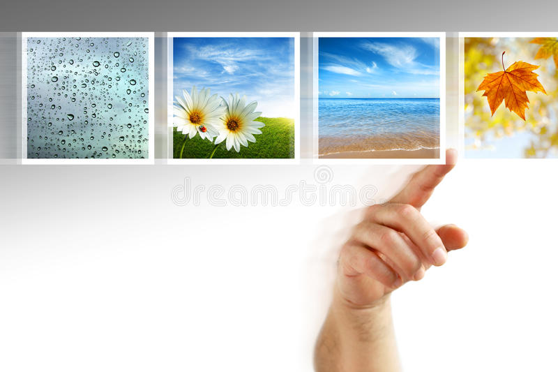 Pantalla táctil de las fotos imagen de archivo libre de regalías