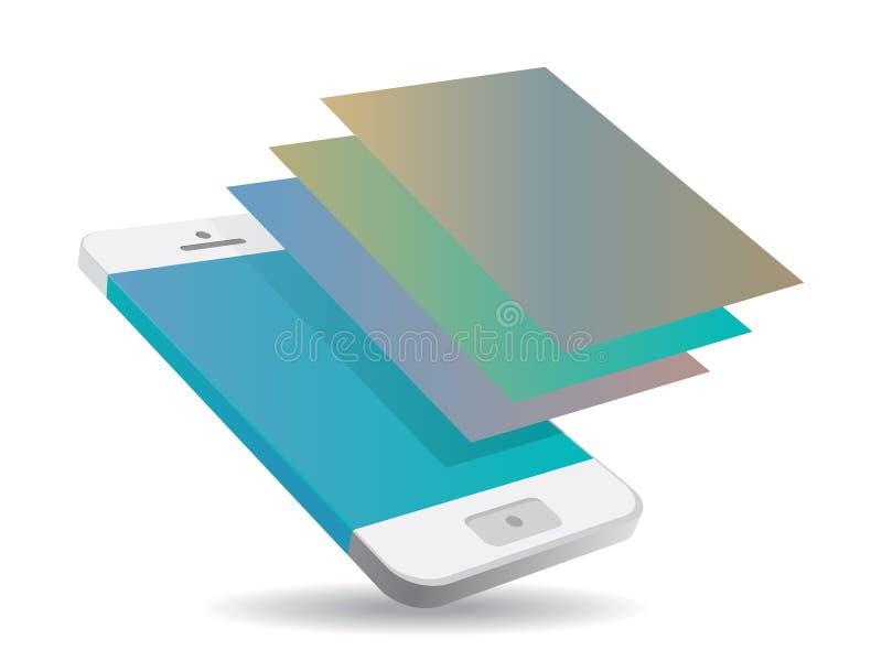 Pantalla táctil de Smartphone stock de ilustración