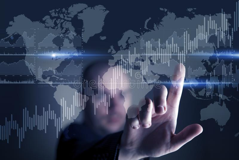 Pantalla táctil virtual de la tecnología stock de ilustración