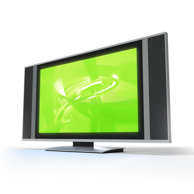 Pantalla TV del LCD stock de ilustración