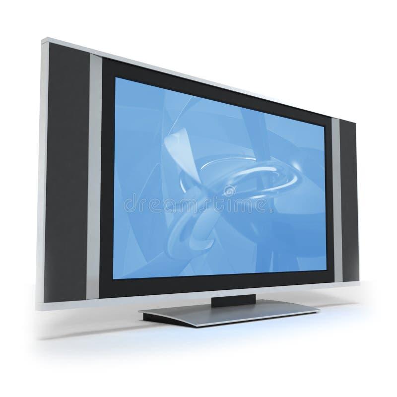Pantalla TV del LCD con la visualización azul abstracta libre illustration