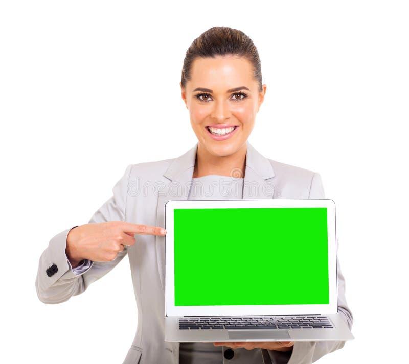 Pantalla verde de la empresaria foto de archivo libre de regalías