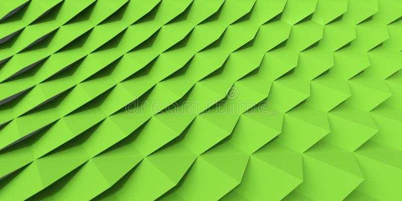 Pantalla verde del azulejo de la ripia stock de ilustración