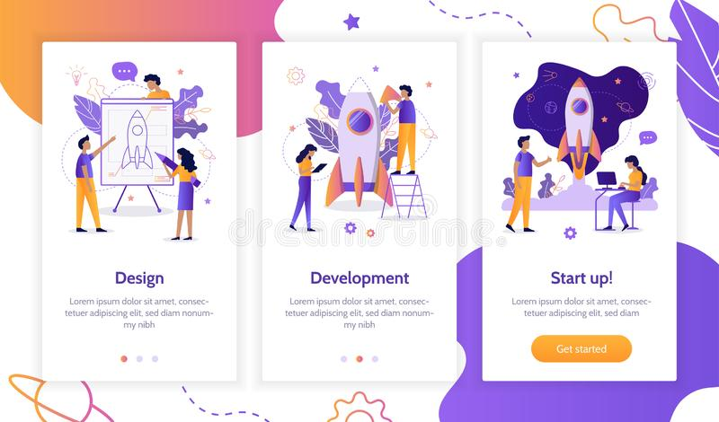 Pantallas de Onboarding app libre illustration