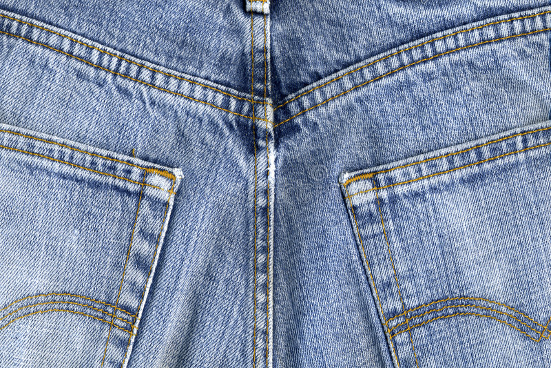 Pantalon bleu utilisé image stock