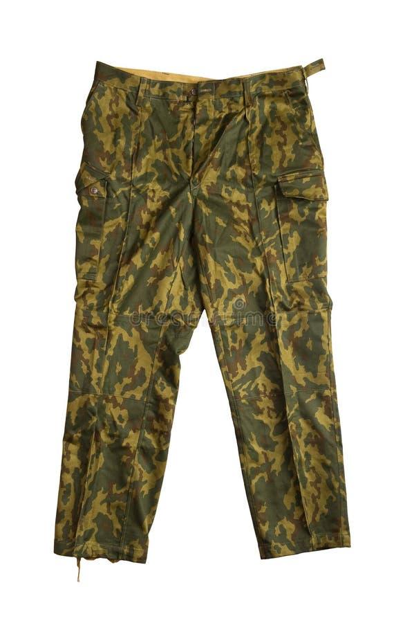 Pantalon de camouflage sur le blanc photo libre de droits