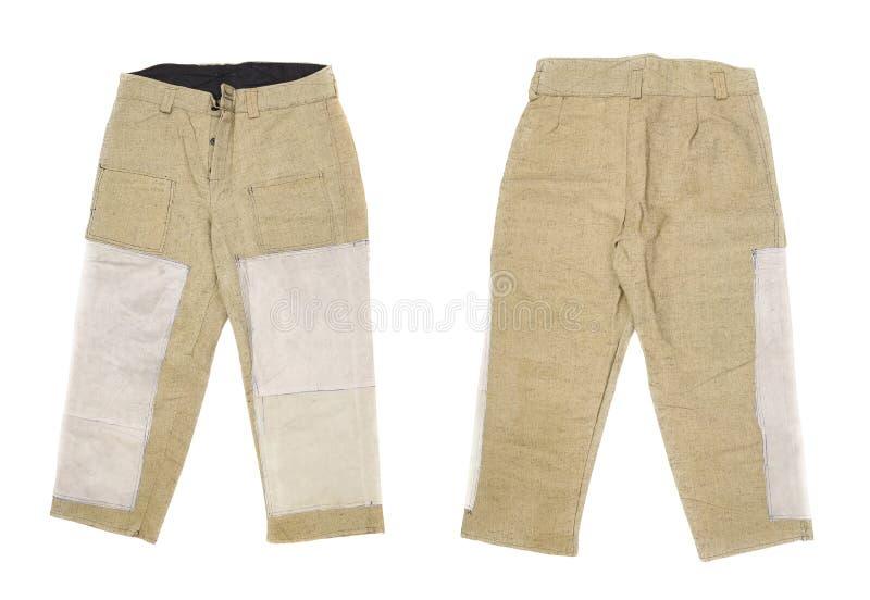 Pantalon de soudure pour le travailleur. image libre de droits