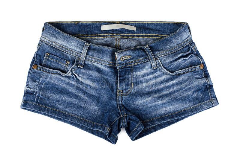 Pantalones cortos azules del demin fotos de archivo