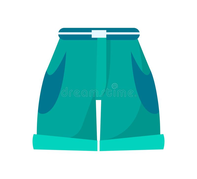 Pantalones cortos con la cintura alta, la correa fina y los bolsillos profundos libre illustration