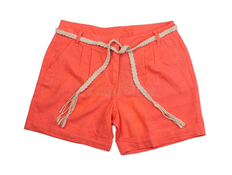 Pantalones cortos coralinos brillantes foto de archivo libre de regalías