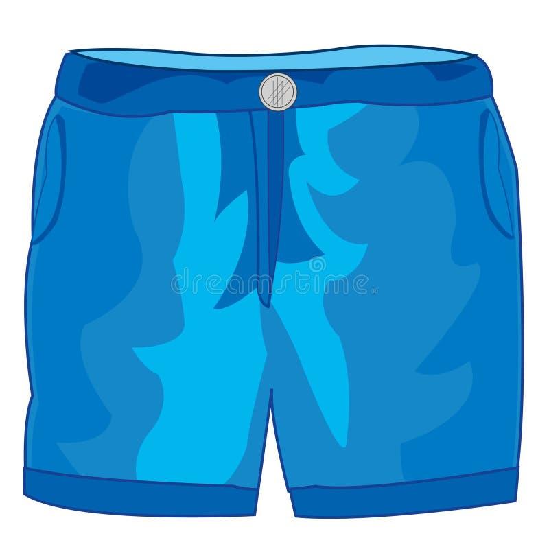 Pantalones cortos de los pantalones del año stock de ilustración