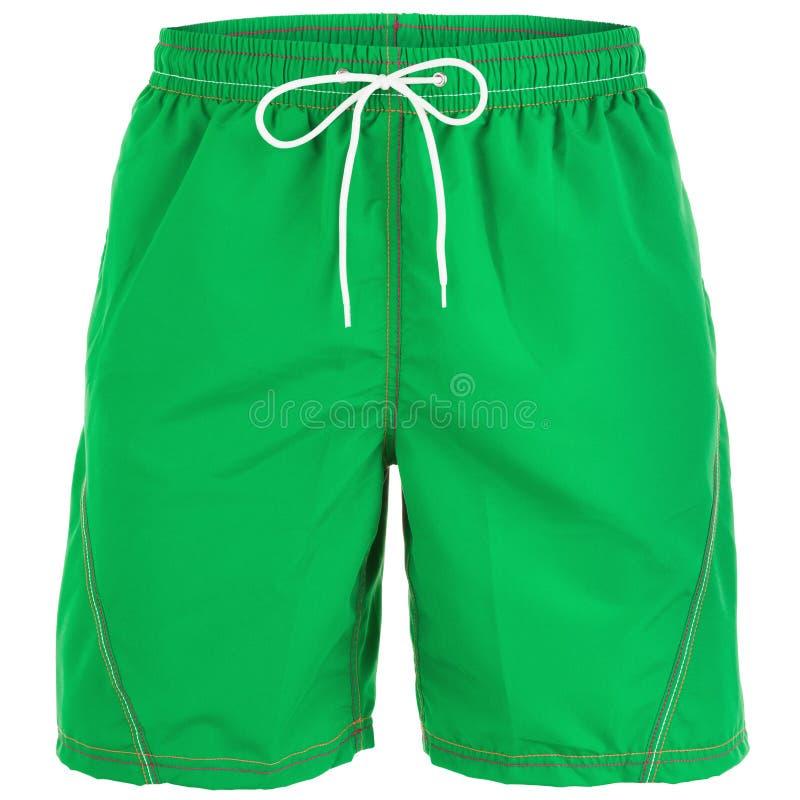 Pantalones cortos de los hombres verdes para nadar imagen de archivo libre de regalías