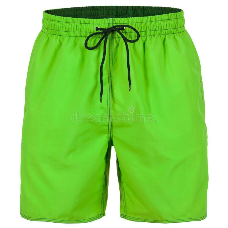 Pantalones cortos de los hombres verdes y negros para nadar fotos de archivo libres de regalías