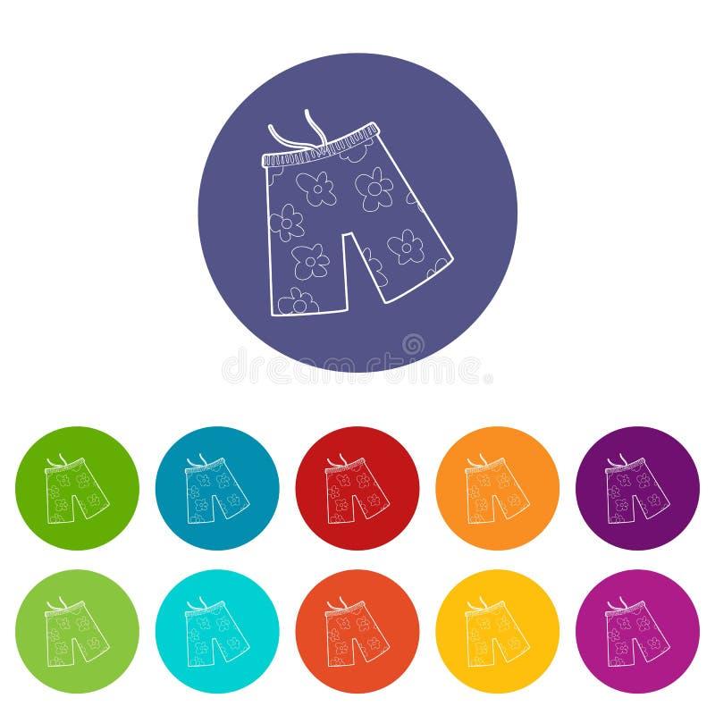 Pantalones cortos para el icono que nada, estilo isométrico 3d foto de archivo libre de regalías
