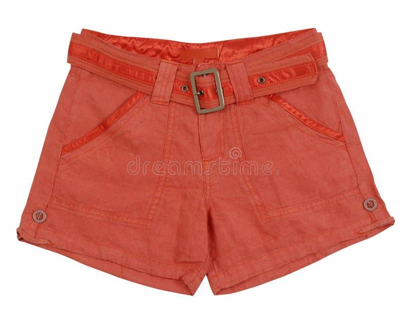 Pantalones cortos rojos fotografía de archivo