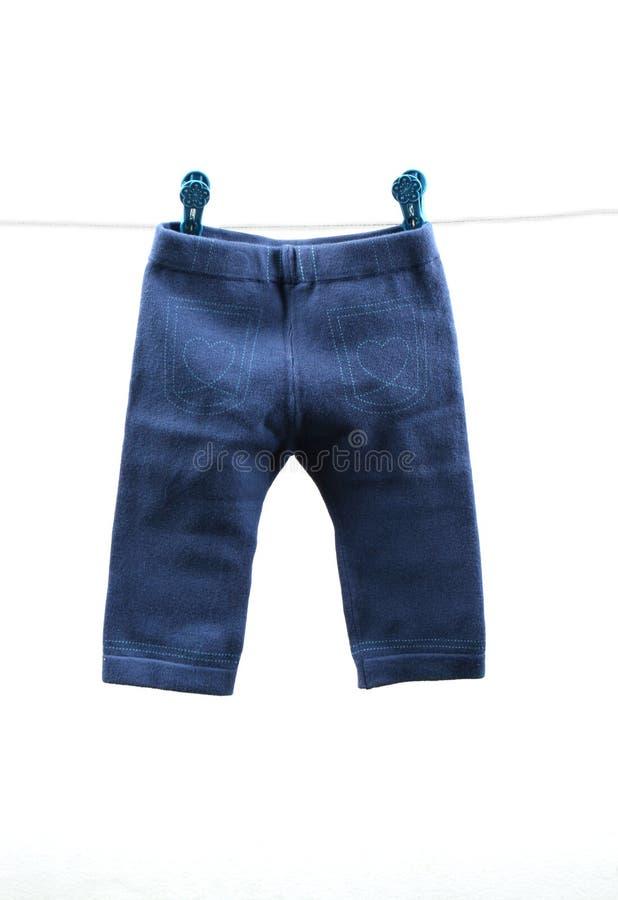 Pantalones del bebé imagenes de archivo