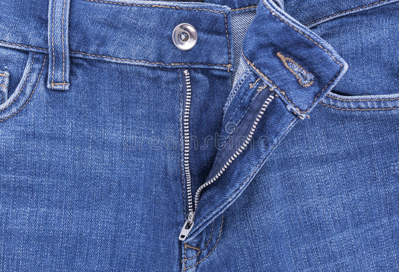 Pantalones del dril de algodón de la cremallera imagen de archivo libre de regalías