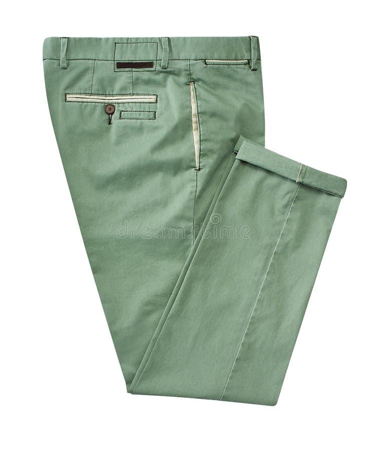 Pantalones para los hombres aislados en un fondo blanco con la trayectoria de recortes imagen de archivo libre de regalías