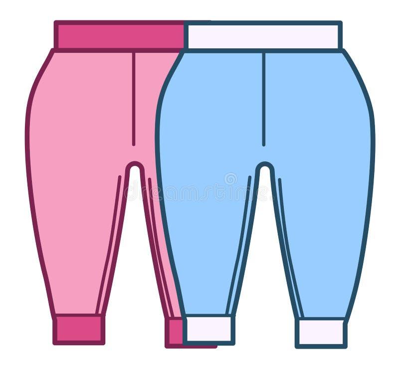 Pantalones Para Recien Nacidos Ninos De Moda Para Ninos Y Ninas Ilustracion Del Vector Ilustracion De Muchacha Aislado 199440211